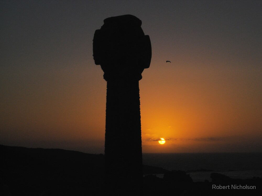 Sunset From Barnoon Cemetery 2, St Ives by Robert Nicholson
