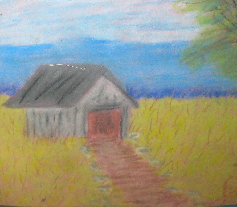 barn , by jjjcccart, artist ill with Parkinsons by jjjcccart