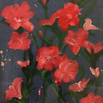 Flower Power, jjjcccart, art by artist ill with Parkinson's by jjjcccart