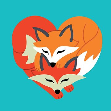 Fox Love: Heart Silhouette by taylorsmith03