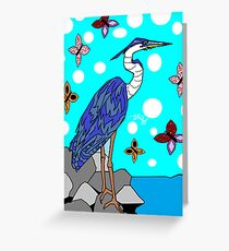 Canadian Bird {Blue Heron} Greeting Card