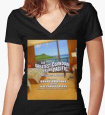 Benny Bropane Women's Fitted V-Neck T-Shirt