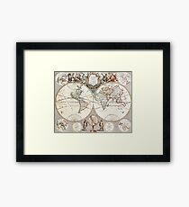 Medieval Map of the World Framed Print