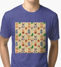 Woodland Creatures Tri-blend T-Shirt