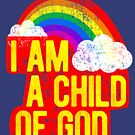 I Am A Child Of God Jesus Loves Me LDS Mormon Graphic Tee Shirt Baptism by DesIndie