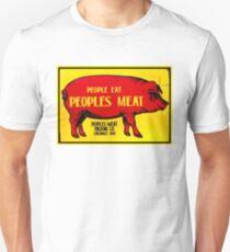 PEOPLES MEAT: Vintage Abattoir Advertising Print T-Shirt