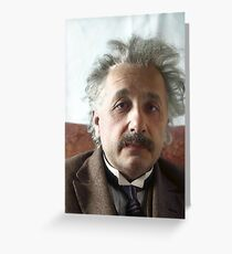 Albert Einstein, 1 March 1929 Greeting Card