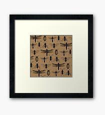 Entomology studies pattern Framed Print