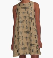 Entomologie studiert Muster A-Linien Kleid