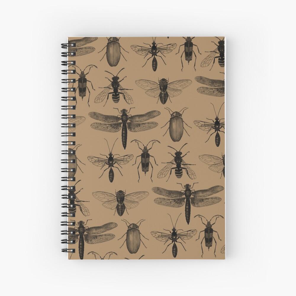 Entomology studies pattern Spiral Notebook