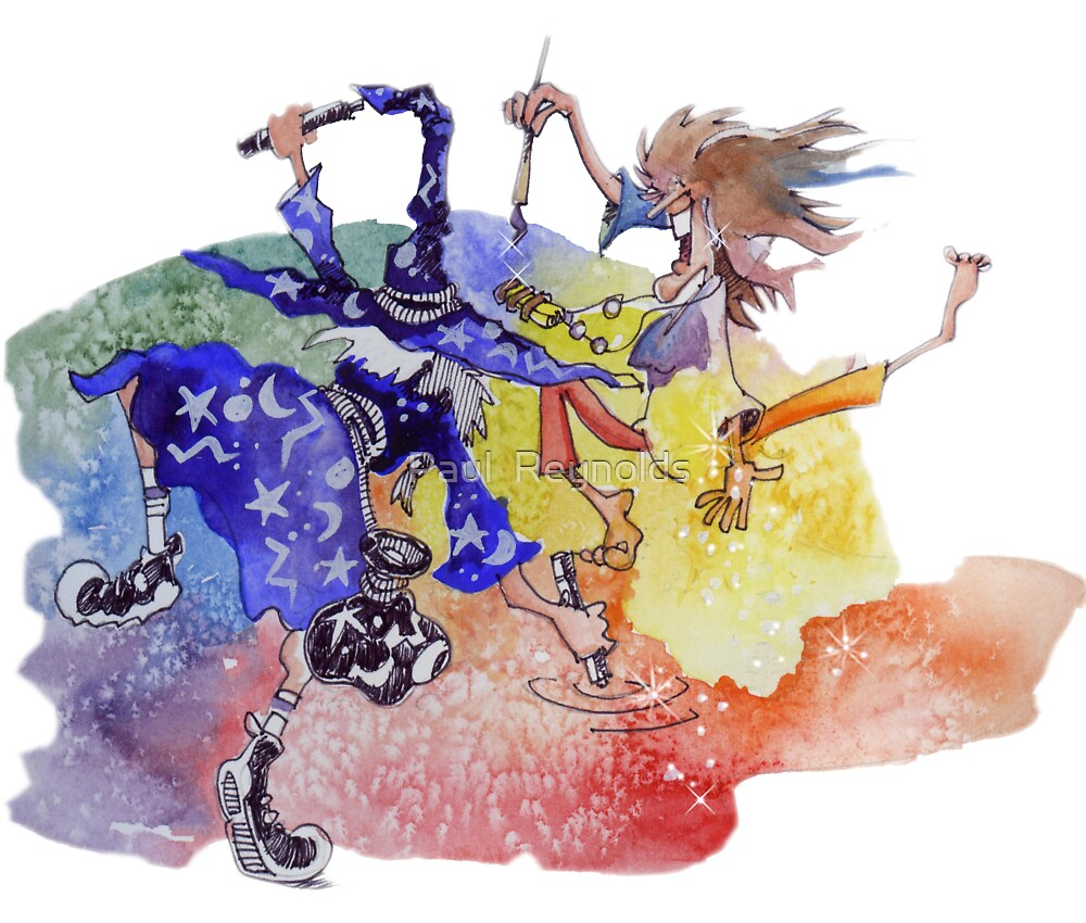 Dance of the Cartoon Wizard and the Color Witch by Paul  Reynolds