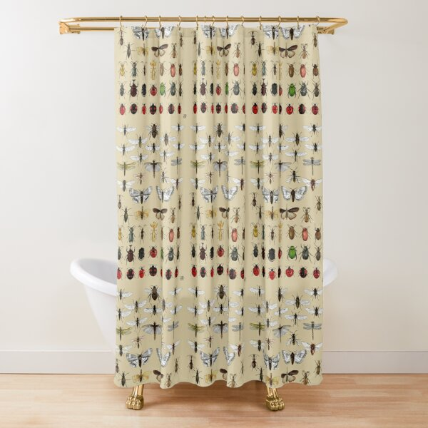 Entomology Insect studies collection  Shower Curtain