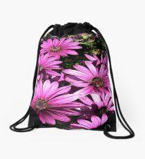 FloralFantasia 27 Drawstring Bag