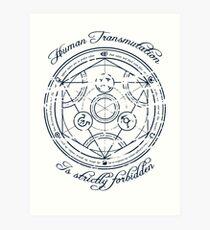 Human Transmutation (FMA) Art Print