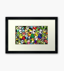 Everybirdy Pattern Framed Print