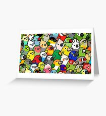 Everybirdy Pattern Greeting Card