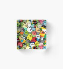 Everybirdy Pattern Acrylic Block