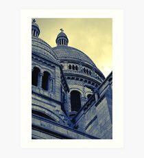 Sacre Coeur IV gradient map Art Print