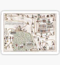 Antique Map - Careri's Migration of the Aztec (1704) Sticker