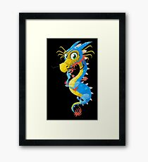 Cute Dragon Funny Spirit Animal Kids Framed Print