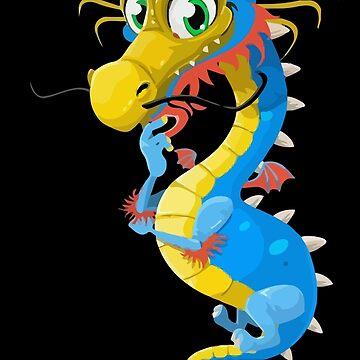 Cute Dragon Funny Spirit Animal Kids by nhannvangg