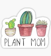 Pflanze Mama Sticker