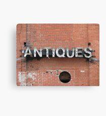 Antiques Canvas Print