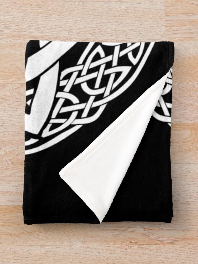 Alternate view of Harmony in Snow Throw Blanket