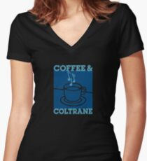 Coffee & Coltrane - Jazz With Your Java Women's Fitted V-Neck T-Shirt