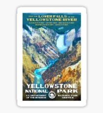 Travel Poster - Yosemite National Park (1930s) Sticker