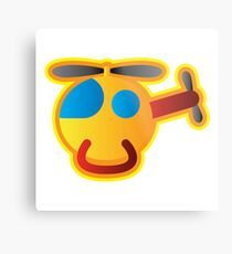 Little Helicopter Metal Print