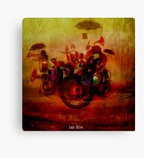 The delirious orchestra Canvas Print