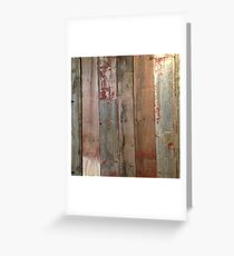 Farmhouse chic Rustic western country primitive barn wood Greeting Card