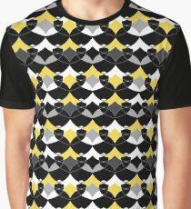 Yellow gray black geometric pattern  Graphic T-Shirt
