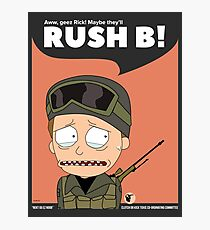 Rush B! Rick and Morty in CSGO Photographic Print