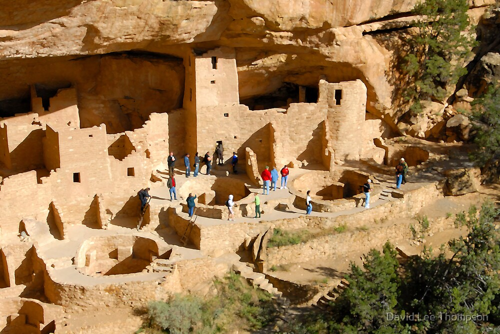 """""""At Cliff Palace"""" by David Lee Thompson"""