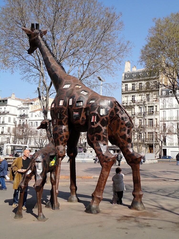 Giraffe Sculptures, Marseilles, France 2012 by muz2142
