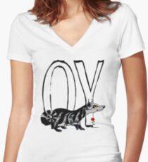OY -  Sir Throcken of MidWorld Women's Fitted V-Neck T-Shirt