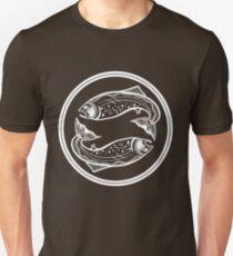 Double Trout White Unisex T-Shirt