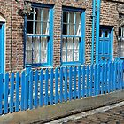 Blue Picket Fence by Lesliebc