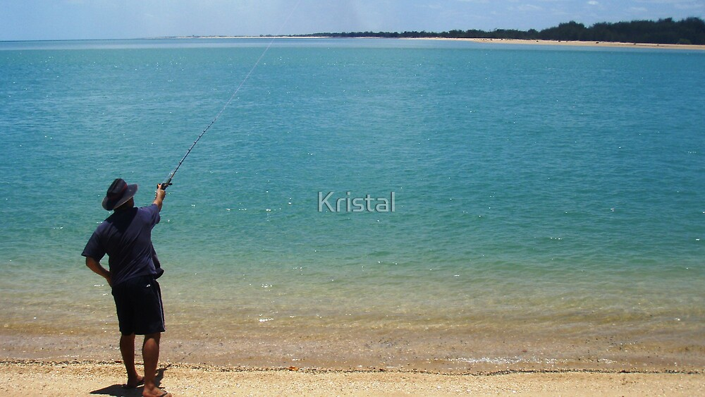 Dad fishing  by Kristal