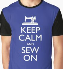 Keep Calm and Sew On Graphic T-Shirt