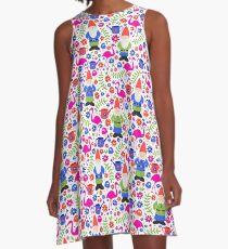 Gnom-Garten A-Linien Kleid