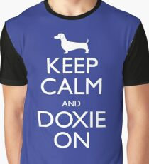 Keep Calm and Doxie On Graphic T-Shirt