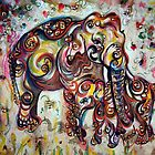 Elephant - Mom - Ornate  by Harsh  Malik