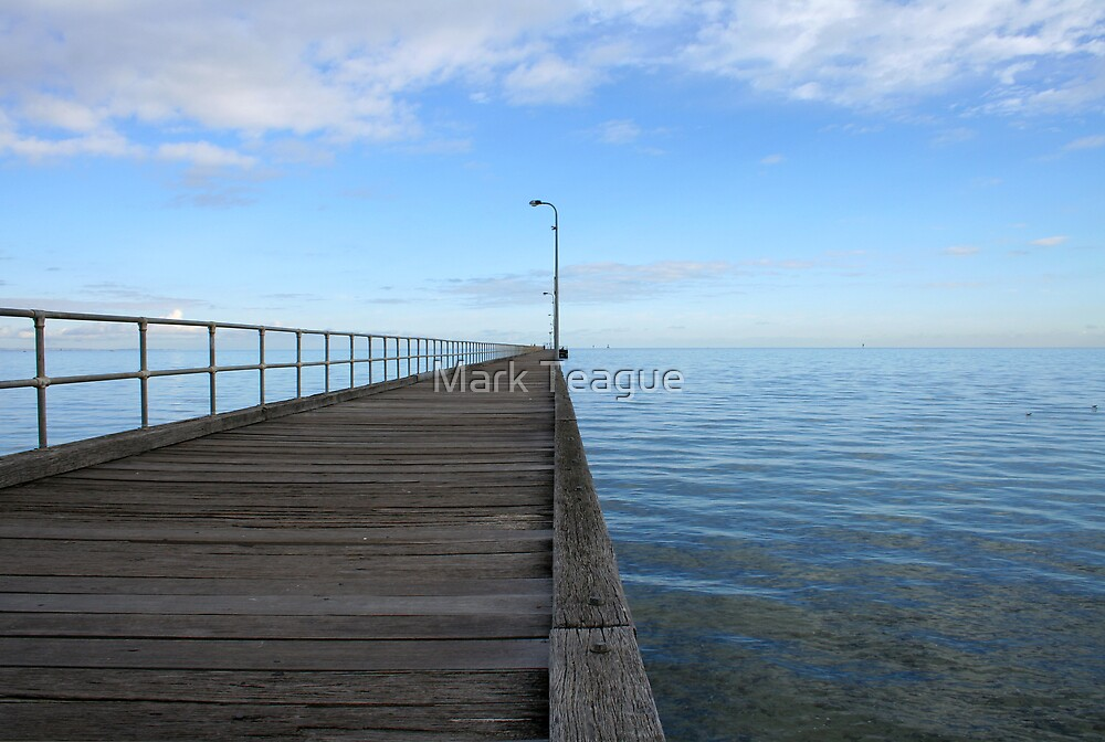 Rosebud Pier by Mark Teague