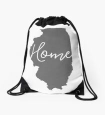 Illinois is Home Drawstring Bag