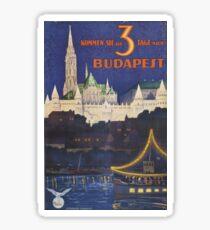 Budapest vintage, small size sticker, mug Sticker