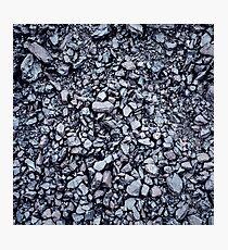 Black coal textured background Photographic Print