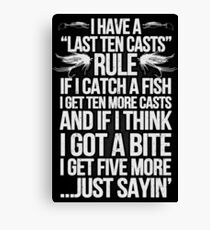FISHING RULE Canvas Print